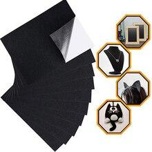 Sticker Cloth Felt-Fabric Handmade DIY Black Sheet Adhesive Craft Flocked Protective