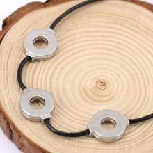 1pcs Anime Naruto Akatsuki Uchiha Titanium Steel Itachi Cosplay 3 Loops Necklace Wholesale Free Shipping