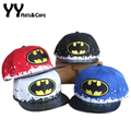 2016 Primavera Verano Moda Niños Batman Snapback Caps Hip-Hop Para Niños sombrero del Deporte Muchachos de la Muchacha Gorra de Béisbol Gorros