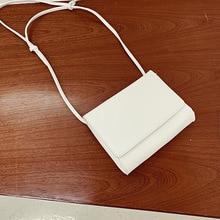 Youda New Korean Niche Design Mobile Phone Pouch Solid Color Shoulder Flip Bag Minimalist Style Literary Ladies Messenger Bags