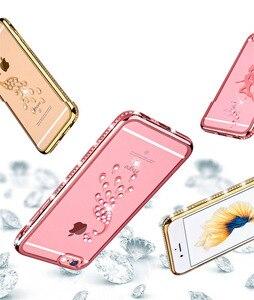 Гальванический горный хрусталь ТПУ чехол для телефона для iphone 5 SE X 8 7 6 6s Plus чехол Алмазный Павлин Лебедь оболочка Прозрачный чехол