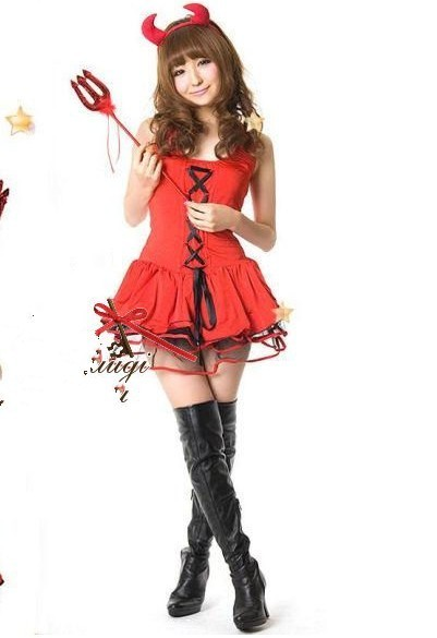 hot sale top fashion adult women christmas costumes 2015 freeshipping halloween costumes female demon suits pirate