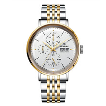 business Winner Watch Men Skeleton Automatic Mechanical Gold Vintage Mens stainless steel Top Brand Luxury