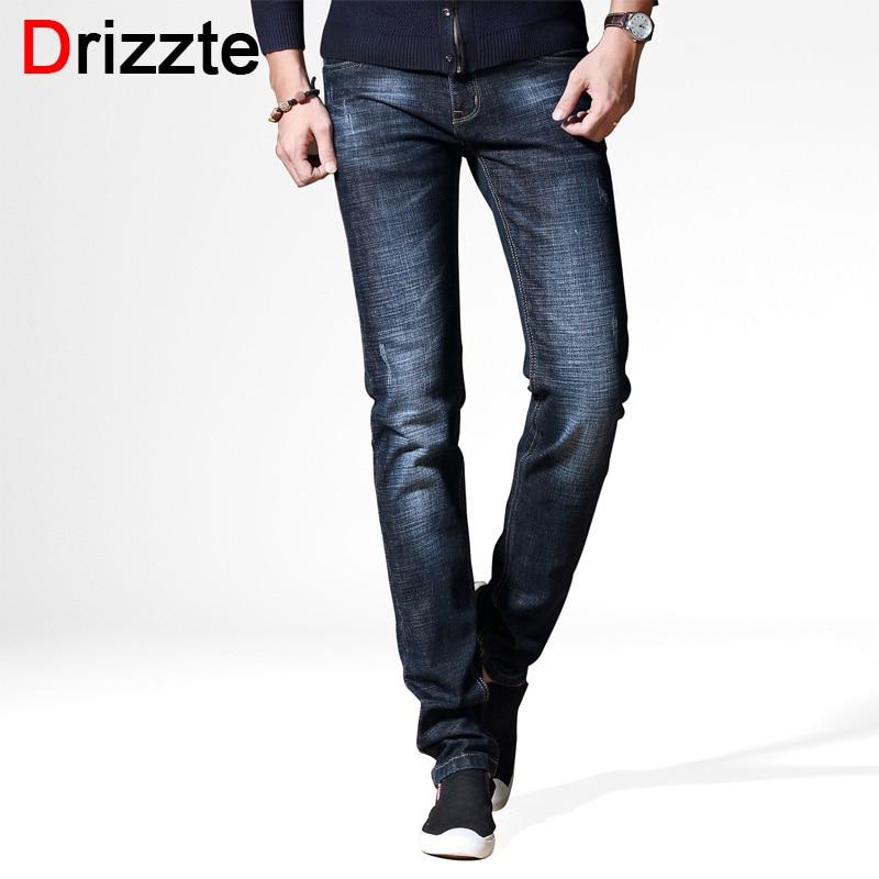 Drizzte Brand Mens Jeans Autumn New Style Fashion Black Grey Slim Fit Jeans for Men Casual Denim Jeans Men