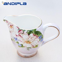 European Style High Grade Bone China Milk Frothing Jugs Coffee Pitcher Barista Craft Pull Flower Tool Accessories Ceramic Kettle
