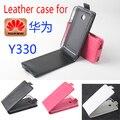 Alta qualidade new original para huawei y330 leather case capa flip para huawei y 330 case tampa do telefone em estoque