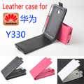 High Quality New Original For Huawei Y330 Leather Case Flip Cover for Huawei Y 330 Case Phone Cover In Stock