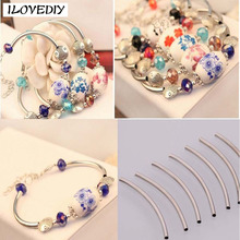 100pcs Silver/Gold/Nickel Smooth Curved Tube Connector Charm Beads Jewelry Finding Wholesale