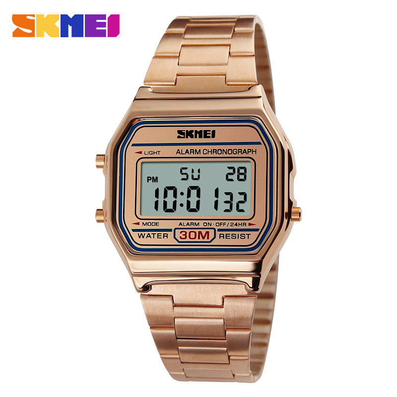 SKMEI LED Digital Sports Watches Men And Women Relogio Masculino Relojes Stainless Steel Military Waterproof Wristwatches