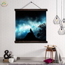 Night Wolf Single Modern Wall Art Print Pop Art Picture And Poster Frame Hanging Scroll Canvas Painting Home Decor Moonlight недорго, оригинальная цена