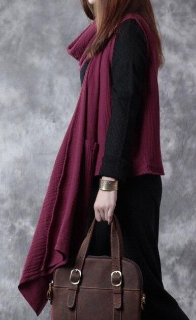 Выпуск продукта в осенью 2016 года качество бренда в оригинальный дизайн свободно большие ярдов хлопка белье асимметричный женский жилет