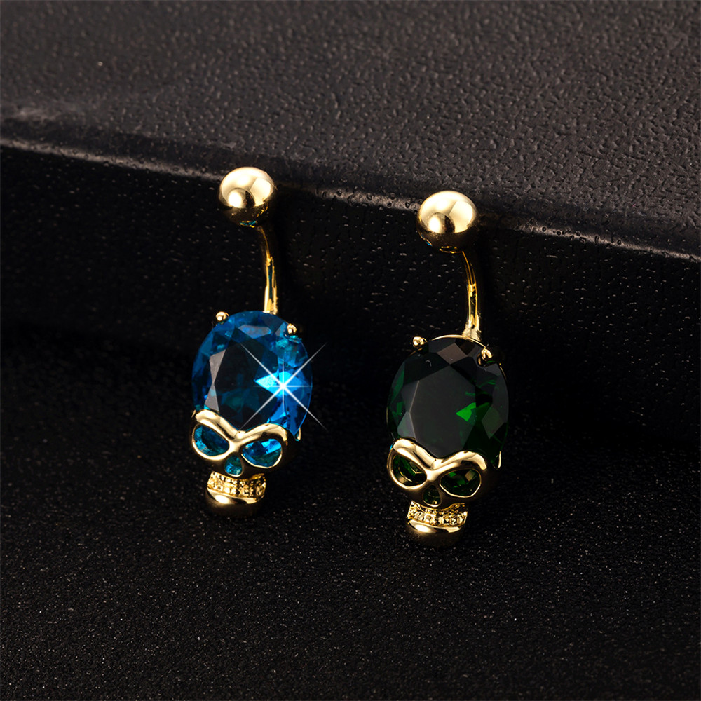 Fashion Jewelry Crystal Flower Dangle Drop Yellow Gold Plate Surgical Steel Navel Belly Bar Ring To Have Both The Quality Of Tenacity And Hardness Engagement & Wedding