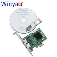 Winyao WY5715T2 PCI E X1 Dual Port 10 100 1000Mbps Gigabit Ethernet Network Card Adapter Broadcom
