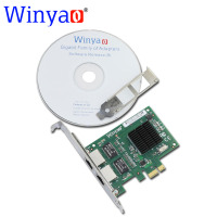 Winyao WY5715T2 PCI E X1 Dual Port 10 100 1000Mbps Gigabit Ethernet Network Card Adapter Broadcom