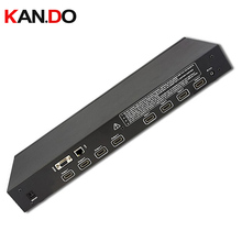 344 RS232 function,4×4 HDMI Matrix Switch with Remote Control,HDMI switch support 1080P,4 input ports 4 output video adapter