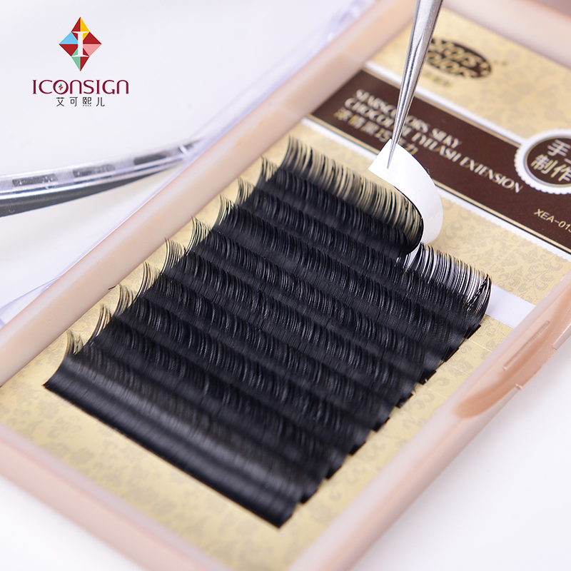 6 boxes/lot Natrual silk J/C Curl 8-13mm Fake False Eyelash Single 0.10/0.15mm Thickness Makeup Eyelash Extention