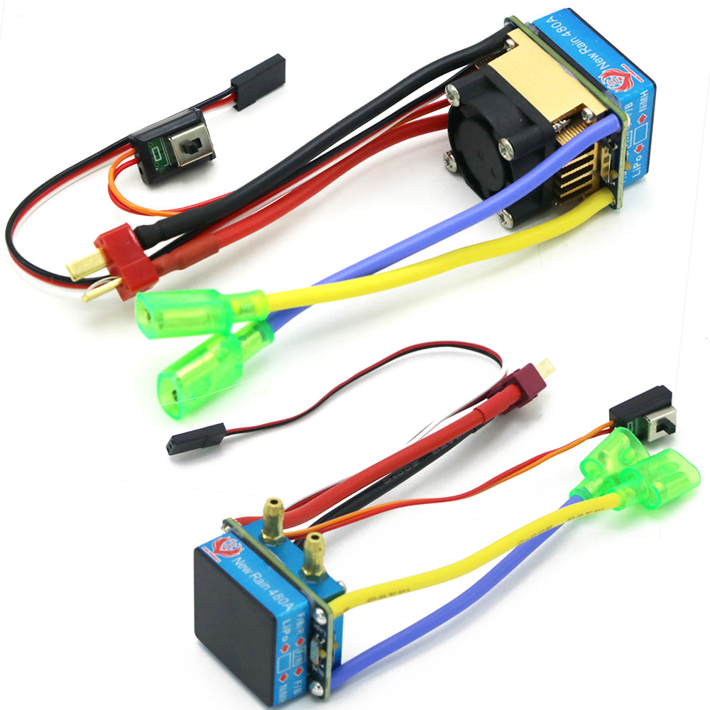 RC ESC 320A 480A Brushed ESC Speed Controller Dual Mode Regulator Band Brake 5V 3A For 1/10 RC Car Boat