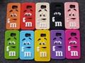 De dibujos animados en 3d m & m de chocolate frijoles arco iris de silicona suave cajas del teléfono cubierta para samsung galaxy s2/s3/s4/s5/s6 s7/edge/nota 2/3/4/5