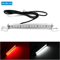 Universal 1 Set LED Car Reverse Brake Auxiliary Light IP67 Waterproof Two In One Rear Backup