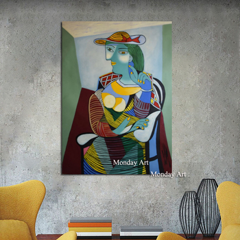Large High Quality Brand Figure Oil Painting On Canvas Handpainted Abstract Modern Home Wall Decor Picasso Palette Picture