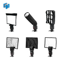 5 In 1 Speedlight Falsh Set 3 X Foldable Speedlight Reflector Snoot Flash Softbox Diffuser Honeycomb