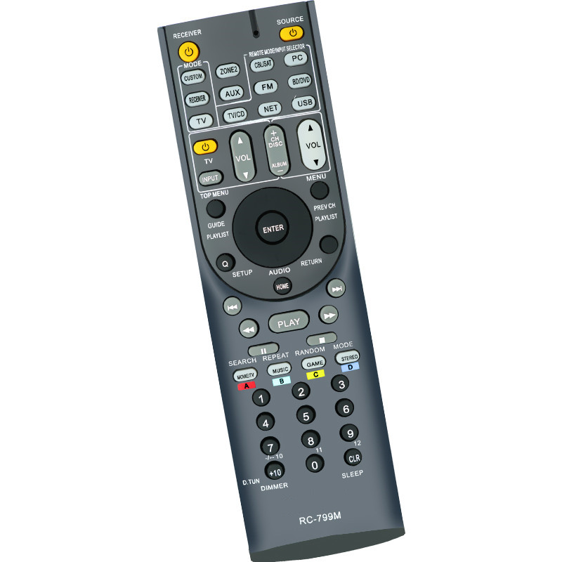 New Replacement Remote Control For Onkyo TX-NR509 TX-SR303E TX-SR506S  TX-SR573S TX-NR808 TX-SR603XS AV A/V Receiver