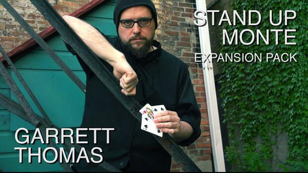 Stand Up Monte Expansion Pack by Garrett Thomas (Gimmick+DVD) Card Magic Trick,Illusion,Close up magic