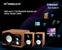 TP-WIRELESS 2.1CH Wooden Speaker Wireless Bluetooth Speaker 40Watt Subwoofer Speaker Home Theatre Loudspeaker