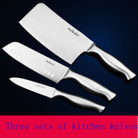 Free Shipping MIKALA High Quality Stainless Steel 3 Pieces Kitchen Set Knives Japanese Chef Knife Vegetable