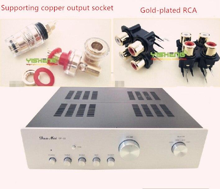 Boîtier 435*110*380mm SP-22 amplificateur châssis/préampli châssis panneaux en aluminium/AMP boîtier boîtier boîtier/casque amp boîte PSU bricolage