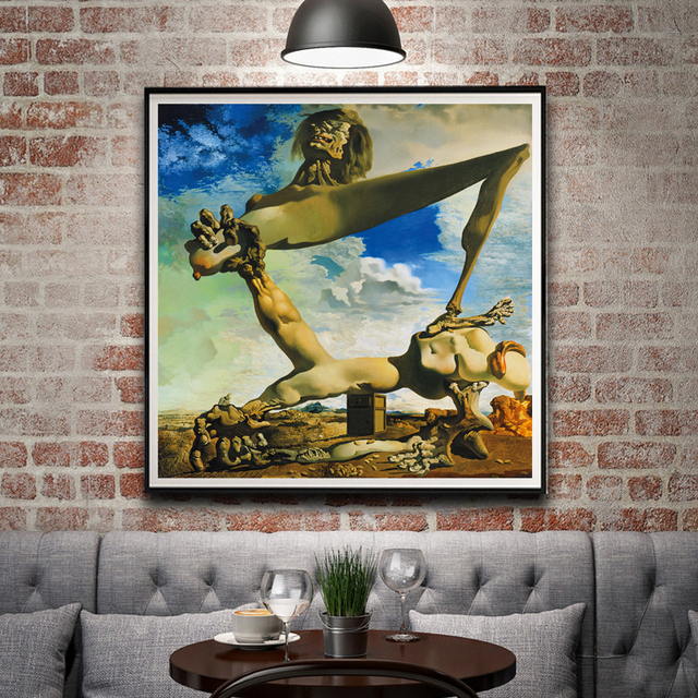 Classic Abstract Painting Salvador Dali Surreal Artwork