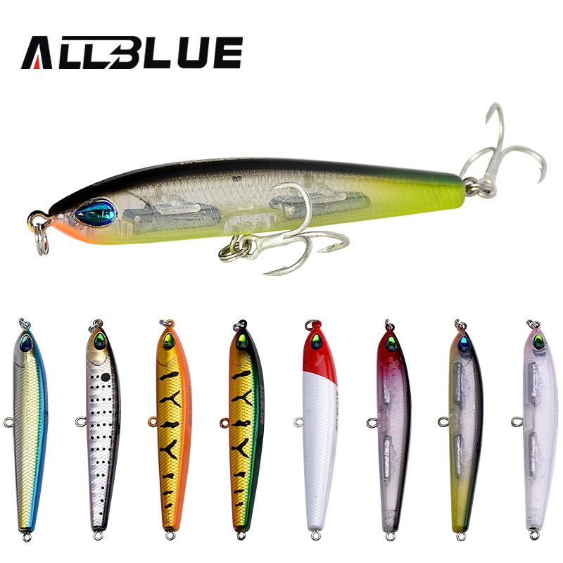 ALLBLUE Thrill Stick Wobbler Fishing Lure 70mm/8.8g Sinking Pencil Longcast Shad Minnow 3D Eyes Artificial Bait Bass Pike Lures allblue slugger 65sp professional 3d shad fishing lure 65mm 6 5g suspend wobbler minnow 0 5 1 2m bass pike bait fishing tackle