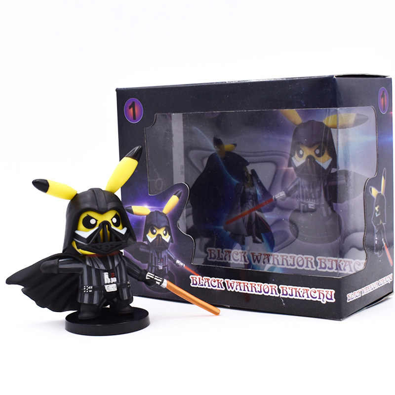 Anime Pikachu Cosplay Darth Vader Action Figure PVC Figurine Collectible Model Christmas Gift Toys 11 cm