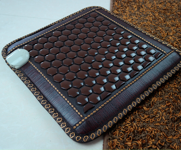 Wholesale price, Electric Heating Jade Chair Cushion Jade Massage Mattress Pad Heated Health 45*45CM Free Shipping все цены