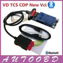Nuevo 2015 R3/2014. R3 Negro Nuevo VD VCI TCS CDP PRO con Bluetooth Para Coche Camión y Genérico 3in1 Auto OBDII Escáner herramientas de Diagnóstico
