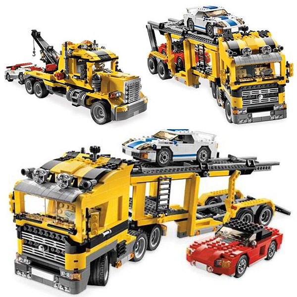 24011 1344pcs Technic The Three in One Highway Transport Set  Building Block Bricks Toys Compatible With  Technic compatible with lego technic creative lepin 24011 1344pcs 3 in 1 highway transport building blocks 6753 bricks toys for children
