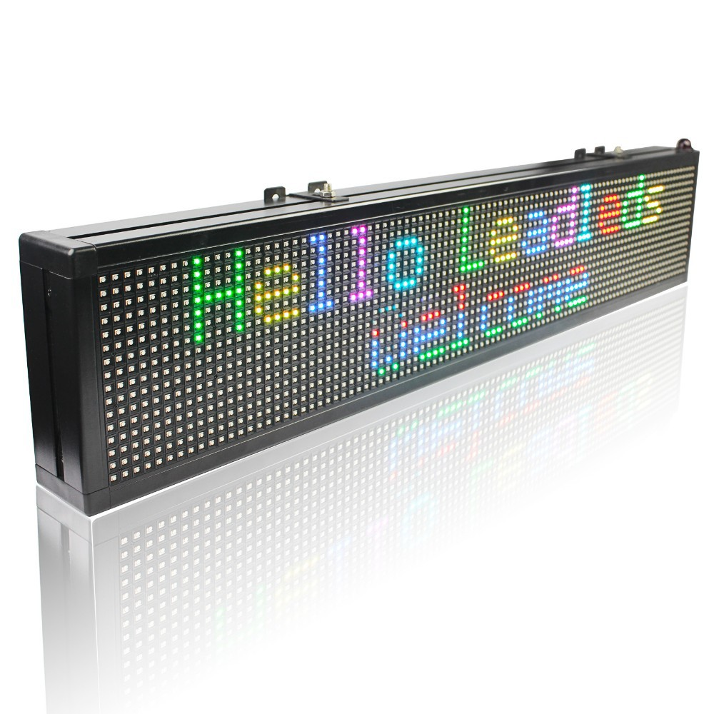 40 X 6 Inches LED Sign / SMD RGB Full Color Can Partition Programmable Scrolling Message LED Display Board