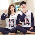 Home Clothes New Spring + Autumn Lovers 13+14 Long-sleeved Pajamas Cartoon Couple Cute Sweet Pajamas Sets Sleepwear Nightwear