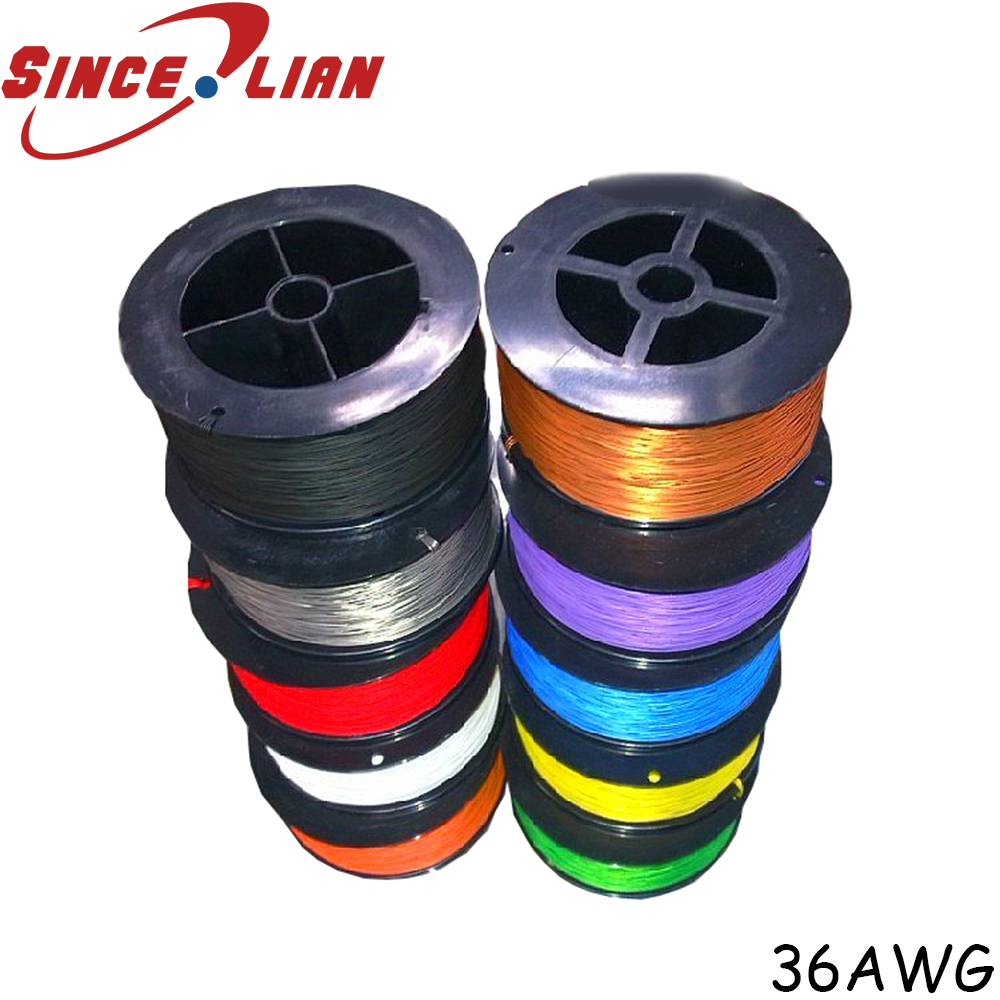 P N B36 1000 Electrical Wire OK Line 305M High Temperature Resistant Silver Cable 36AWG Silver