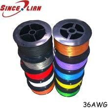 P/N B36 1000 Электрический провод OK Line 305 м устойчивый к высоким температурам серебряный кабель 36AWG посеребренный бескислородный медный провод