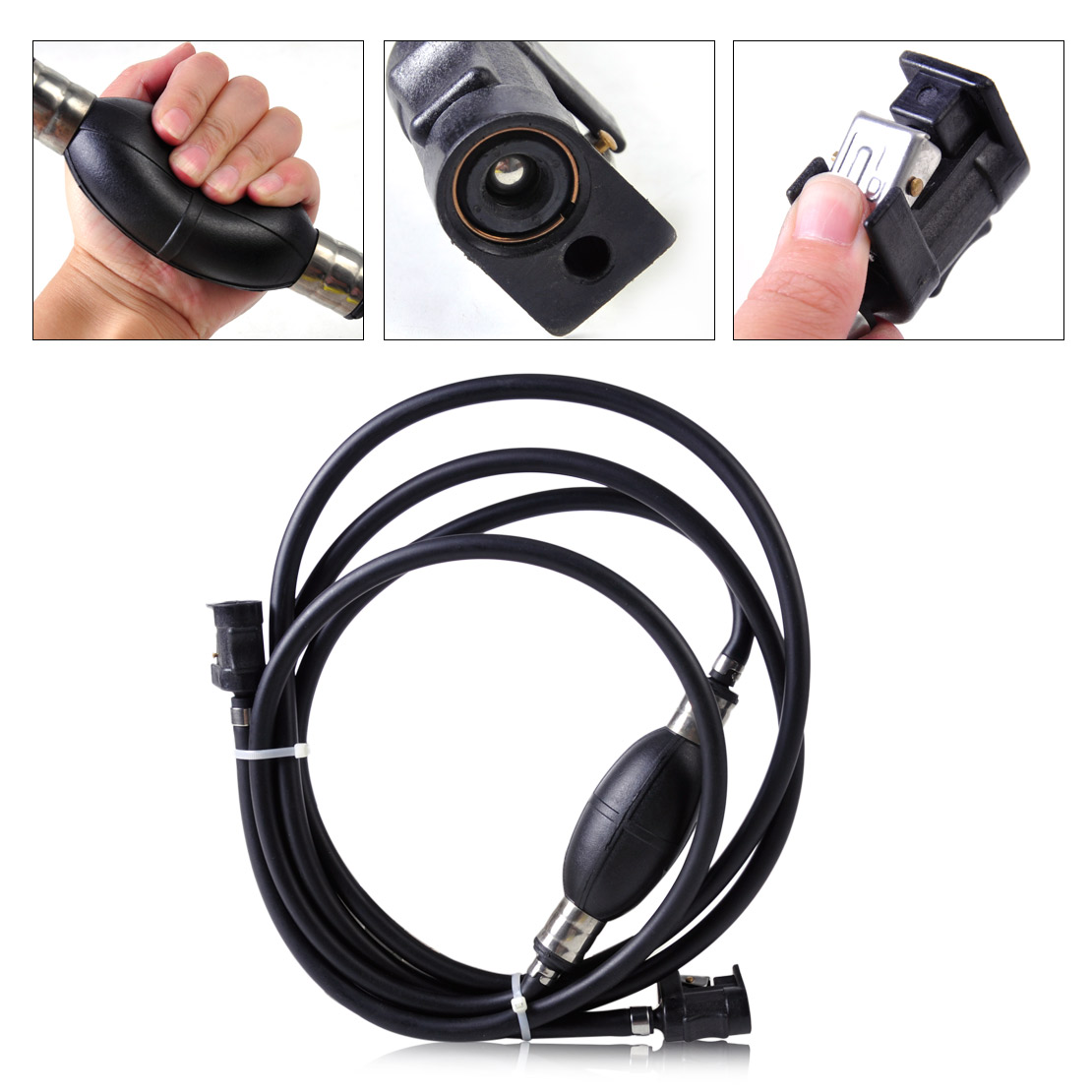 small resolution of dwcx motor 6mm black fuel line hose boat primer bulb kit assembly outboard tank connectors for yamaha mariner johnson mercury in pumps from automobiles