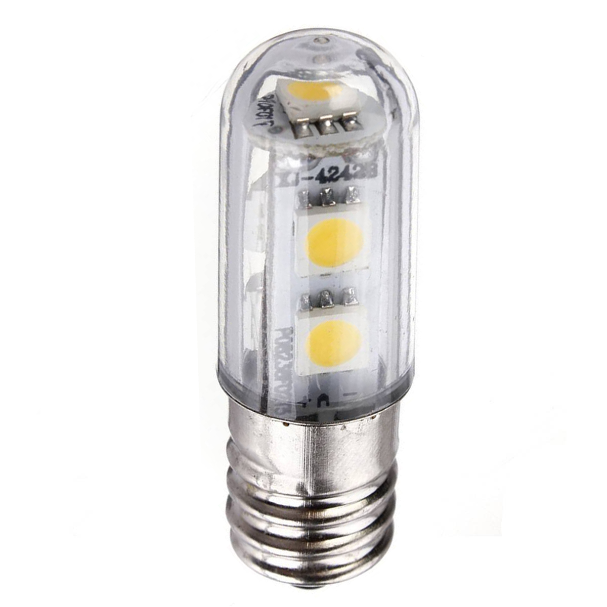 8 Pack E14 1W Led Refrigerator Bulbs 7 Smd 5050 Warm White Colour 15w Replacement for Halogen bulb 3000K 45LM Energy Saving 220V carprie super drop ship new 2 x canbus error free white t10 5 smd 5050 w5w 194 16 interior led bulbs mar713