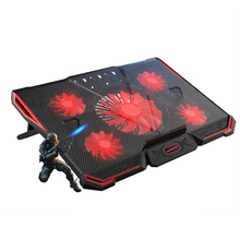 Laptop Cooling Pad Stand Air Cooled 5 Fans 2 USB Ports Adjustable Holder for 15 15.6 17 Super Cooler цена в Москве и Питере