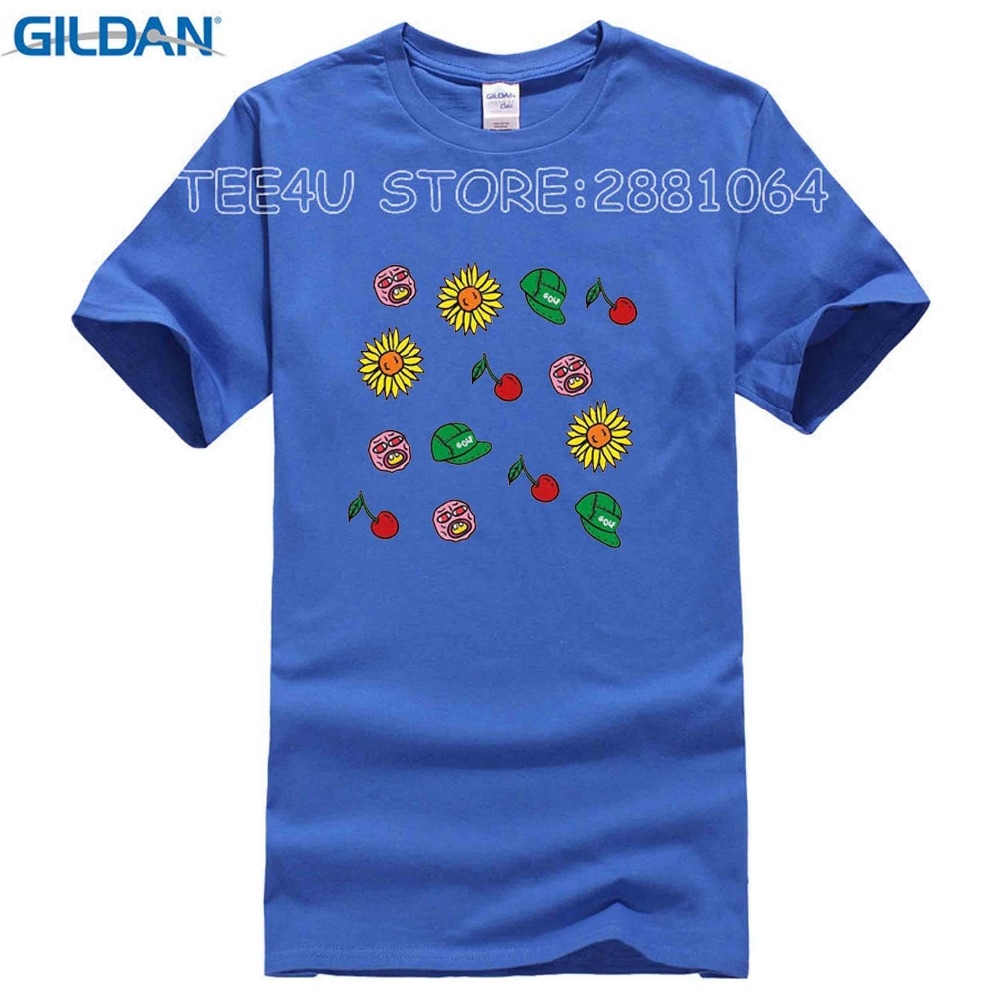 0f8fac2ae627 T Shirts 2017 Brand Clothes Slim Fit Printing Odd Future T Shirts Golfing  Wang Hip Hop Cherry Flower Printed Tees Clothing-in T-Shirts from Men s  Clothing ...