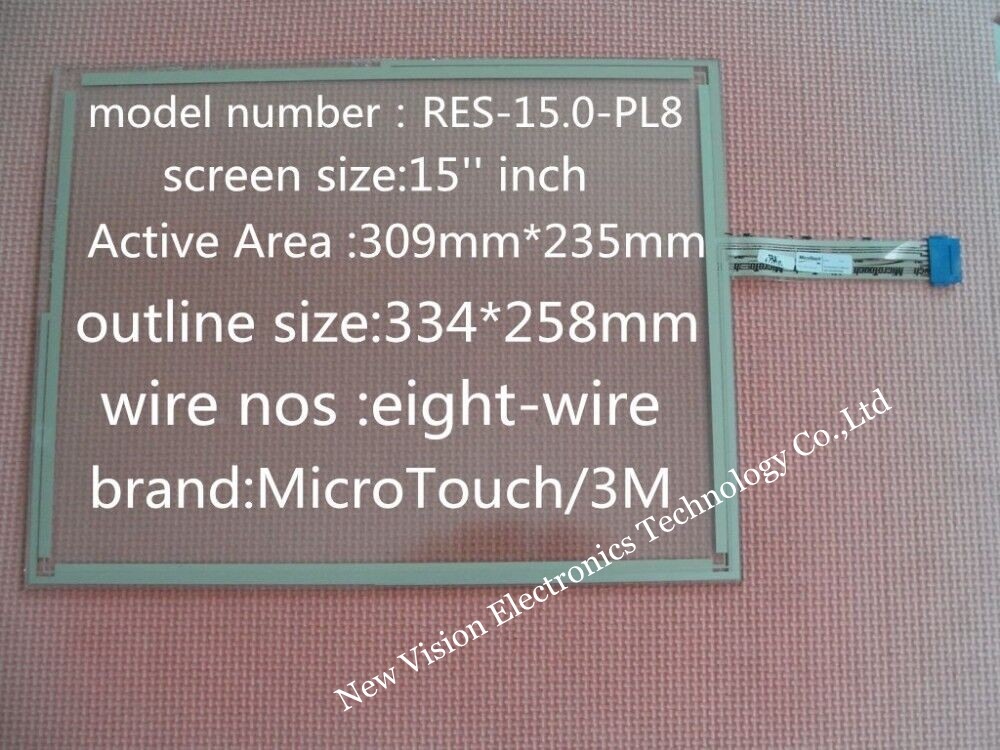 Res 15 0 Pl8 95409 Original 15 Inch 8 Wires Touch Screen