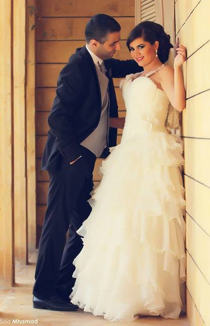 Middle Eastern Dress Simple White Organza Tiered Wedding Spaghetti Straps Sweetheart Vestidos De Novia
