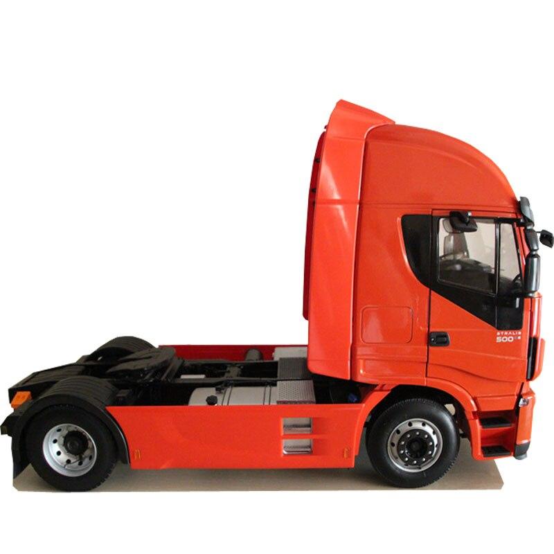RARE 1:12 Échelle Iveco Stralis Salut-Way Heavy Camion Remorque Modèles De Voiture Jouets Édition Limitée Collection Loisirs