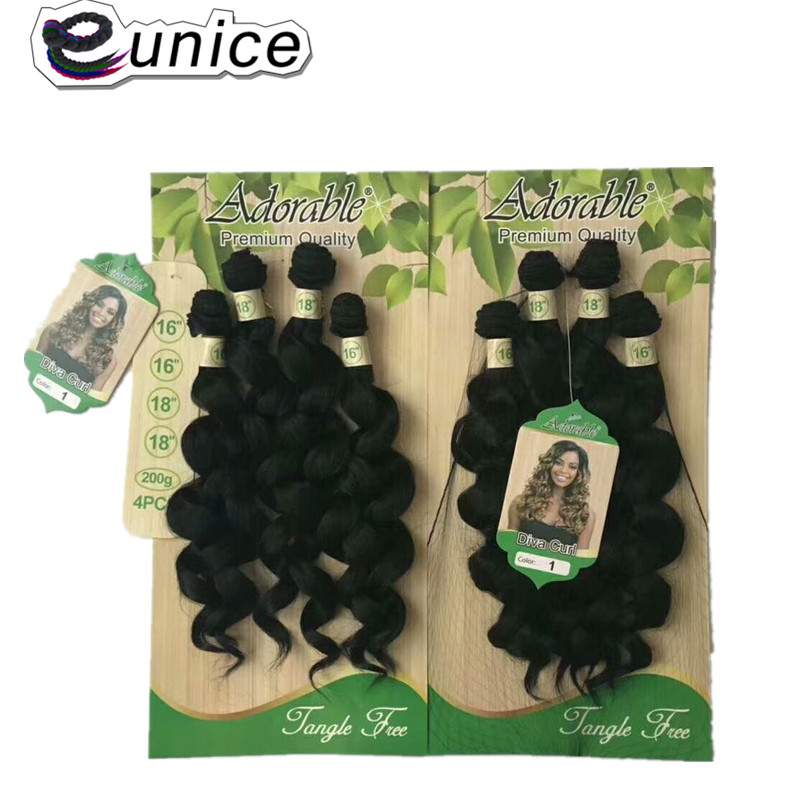 synthetic Weaving deep loose wave for black  (6)