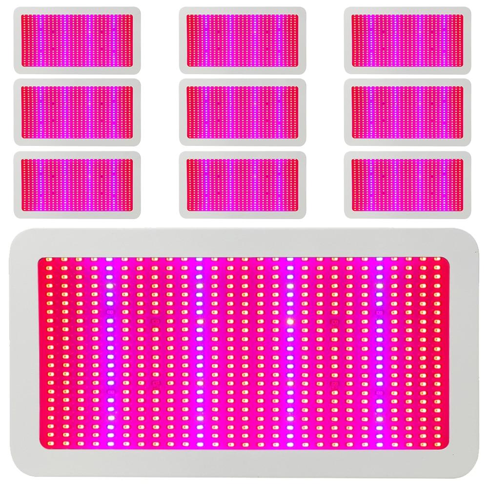 10pcs Lot 600W LED Grow Lights Full Spectrum Hydroponics Led Plant Lamp Best for Medicinal