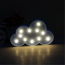 INS Transparent Cloud LED 3D Night Light Atmosphere Nightlight Marquee Desk  Table Lamp Letter For Kids Gift Decoration 0522115